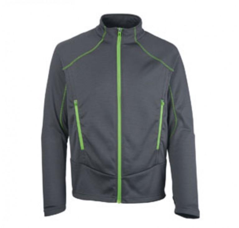 H360 left chest logo'd Men's Cadence Two-Tone Brush Back Jacket